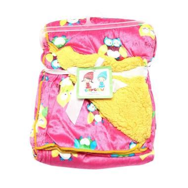 Baby Grow Double Fleece Selimut Bayi - Pink ...