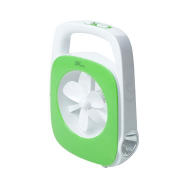 DP Light DP7061 Kipas Meja with Lam ... i - Green [3 Inch/13 LED]
