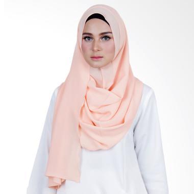 Cantik Kerudung Sheefa Long Nadine Plain Hijab - Peach