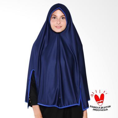 Raniah Hijab Belah Tangan Bergo Syar'i - Biru Dongker Benhur