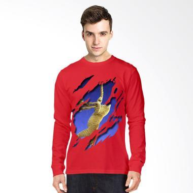 Elfs Shop Kaos Lengan Panjang Pria T Shirt Fleece Simple List Biru Source · Terry Biru Dongker Source T Shirt Glory 3D Cat Rope