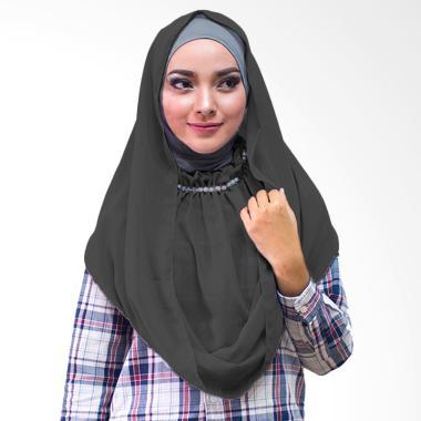 Milyarda Hijab kalung Putri Kerudung Instan - Hitam
