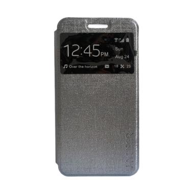 MyUser Flip Cover Casing for Huawei Honor 3C Lite - Abu abu