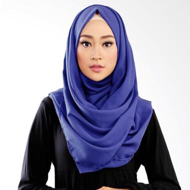 Ruman Hijab Scarf Crepe Basic Shawl Jilbab Pasmina - Biru BCA