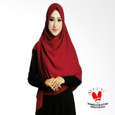 harga Ruman Hijab Square Jilbab Kerudung Segi Empat - Maroon Blibli.com