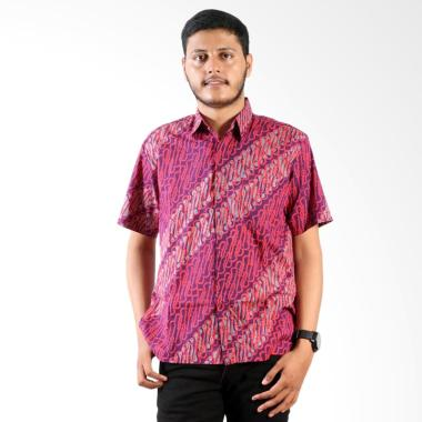 Batik Cap Lengan Pendek Parang Solo Jogja Kemeja Batik Pria
