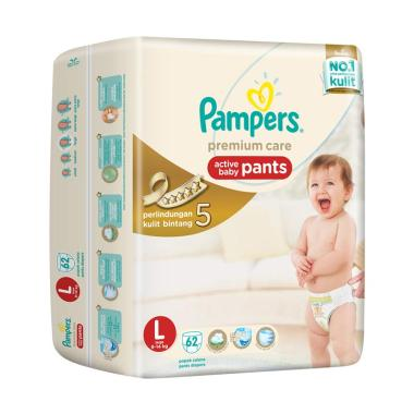Pampers Premium Care Pants Popok Bayi Celana [Size L/62 Pcs]