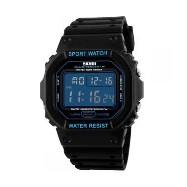 SKMEI DG1134 Digital Sport Rubber LED Watch Jam Tangan Pria - Hitam