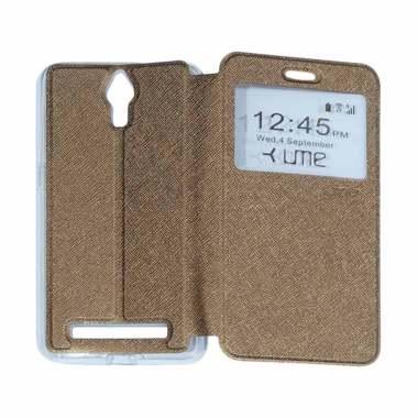 Ume Flipshell / Flip Cover Casing f ...  Handphone / View - Brown