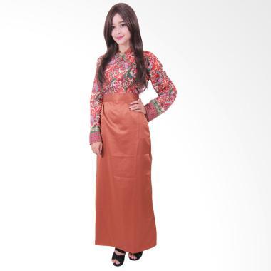 Batik Putri Ayu Solo G2 Gamis Batik - Cokelat