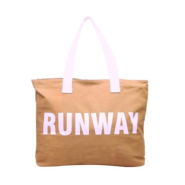 Moshimoshi Tote Bag Runaway BTO-95 Tas Unisex - Mocca