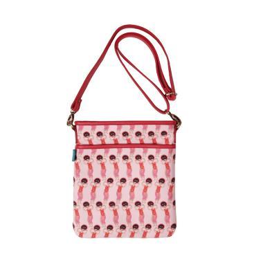 Kamalika Artprints Yapong Sling Bag - Pink Red