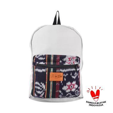 Zak-Woow 02 Monella Flower Pattern Tenun Backpack - Grey