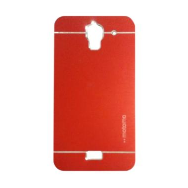 Motomo Metal Hardcase Backcase Casing for Huawei Y3/Y3C/Y360 - Red