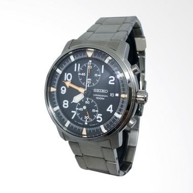 Seiko Chronograph Jam Tangan Pria - Hitam Silver 151112