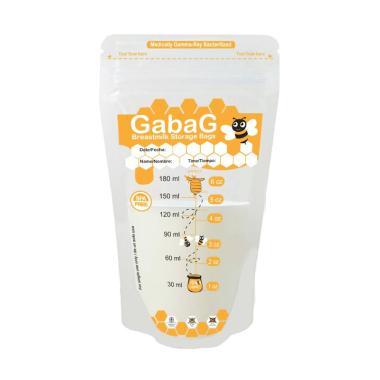 Gabag New Breast Milk Storage Kantung Penyimpan ASI - Orange [180 mL]