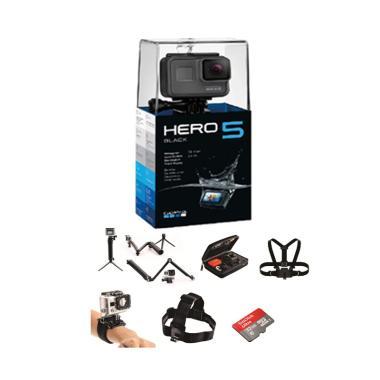 GoPro HERO5 Action Camera - Black [Paket Traveling]