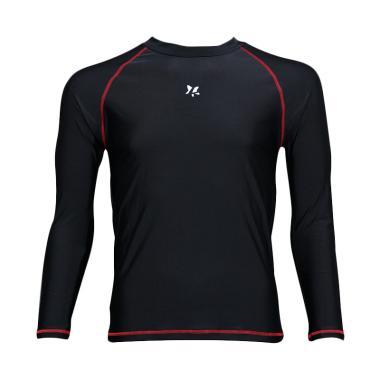 Lasona BM-C3175-L4 Baju Atasan Rena ... gan Panjang - Hitam Merah