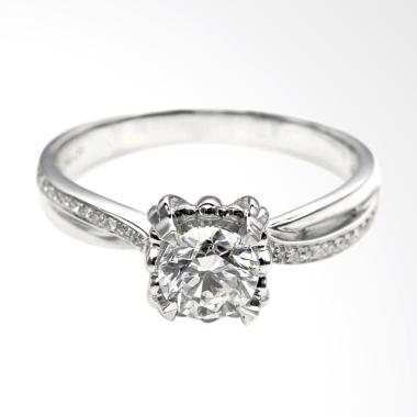 Tiaria DJXJZ055 Perhiasan Emas Cincin Emas Putih dan Zircon [9K]