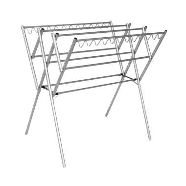 BINAKARYA Aluminium Hanger Jemuran Baju - Silver [110 cm]