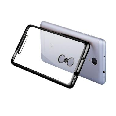 OEM Case Shining Chrome Softcase Casing for Redmi Note 3 Pro - Black