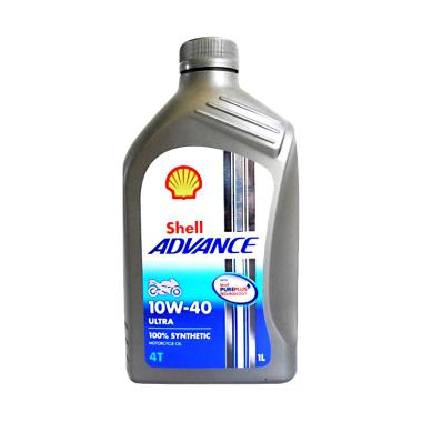 Oli Shell Advance 4T SAE 10W/40 Ult ... nthetic Oli Pelumas [1 L]