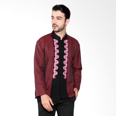 Batik Adikusuma Men Dobby Baju Koko Pria - Merah Tua 772004017