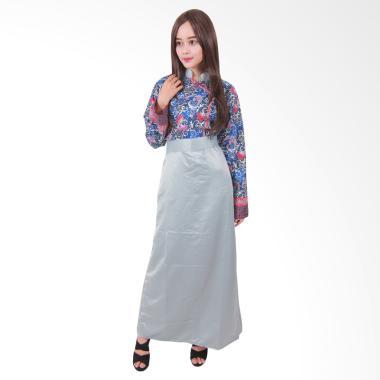 Batik Putri Ayu Solo G2 Gamis Batik - Silver
