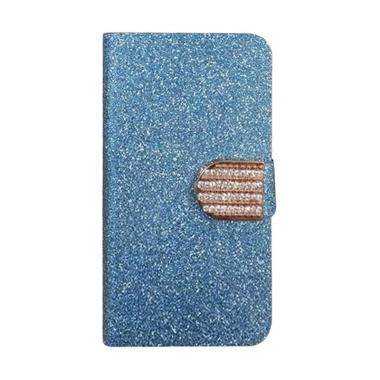 OEM Diamond Flip Cover Casing for Alcatel Pop 2 Premium 5 Inch - Biru