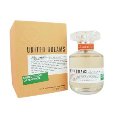 Benetton United Dream Stay Positive Parfum EDT Wanita [80 ML]