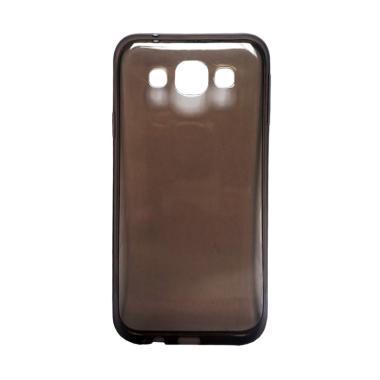 Ultrathin Transparant Softcase Casing for Samsung J510 J5 2016 - Hitam