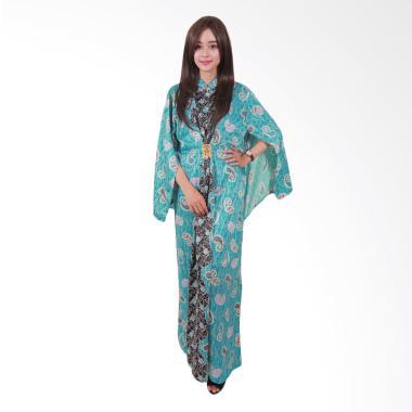 Batik Putri Ayu Solo Cape C3 Gamis - Biru