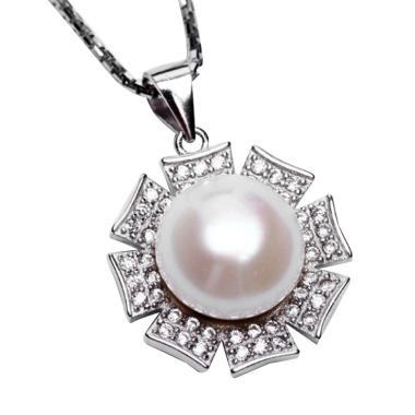 Royale Jewel WGP 110A Kalung Perak Emas Putih dan Mutiara Asli