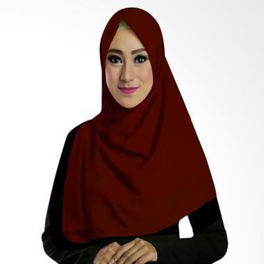 Ruman Hijab TS Ruman Square Kerudung Segi Empat - Coklat