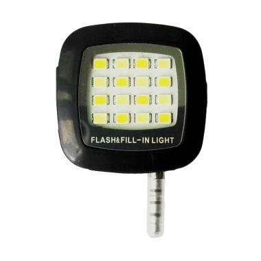 Jejo LED Fill Light Selfie Flash for Smartphone - Black