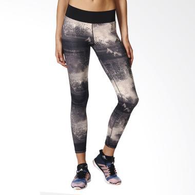 adidas Women Running Long Tight Cel ... a Wanita - Black (BQ2119)