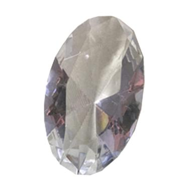 Eztu Glass Diamond Oval Clear Colour Kerajinan Tangan