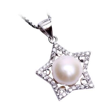 Royale Jewel WGP 113A Kalung Perak Emas Putih dan Mutiara Asli