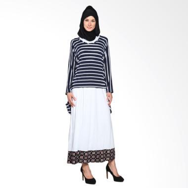 fafa-collection_marsha-008--long-dress-batik-wanita--warna-blue-stripes_full05 10 Daftar Harga Model Busana Muslim Batik Kombinasi Terbaru Terbaik waktu ini