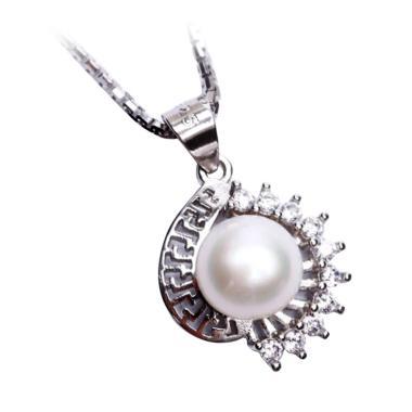 Royale Jewel WGP 114A Kalung Perak Emas Putih dan Mutiara Asli