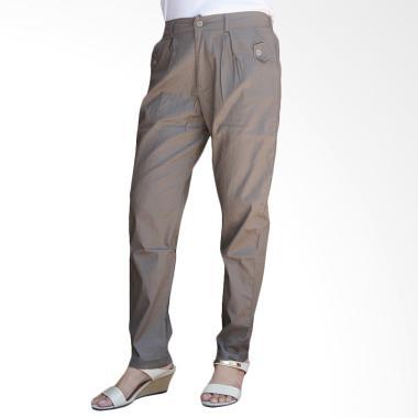 Adore Ladies Basic Celana Panjang Jogger Wanita - Grey Brown