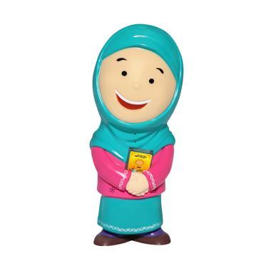 Al Qolam Hafizah Talking Doll New Bilingual Mainan Anak - Toska