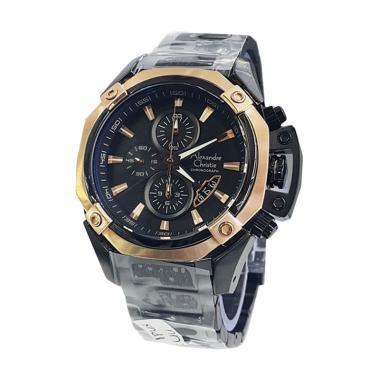 Alexandre Christie AC 6225 SF Jam Tangan Pria - Black Gold