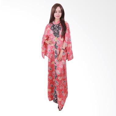 Batik Putri Ayu Solo Cape C3 Gamis - Merah