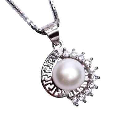 Royale Jewel WGP 114B Kalung Perak Emas Putih dan Mutiara Asli