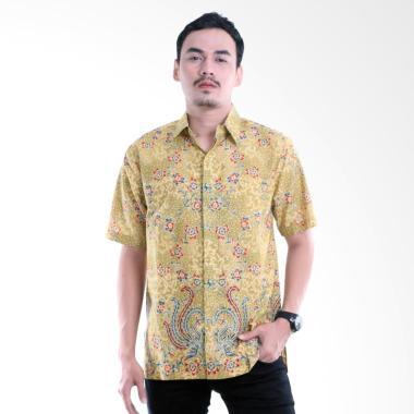 Aamir Kinsler BK115 Batik Lengan Pendek Kemeja Pria - Kuning