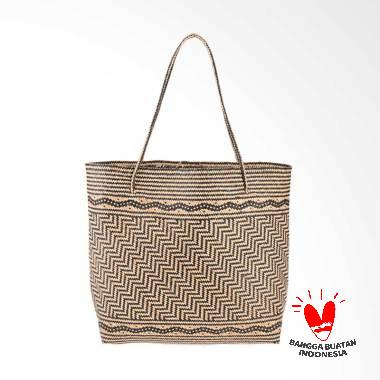 Borneo Craft Collection Tas Rotan - Natural Black TRSB
