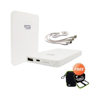 Jual 9Nine New Series Powerbank - Putih [5000 mAh] + Free Pouch Harga Rp 200000. Beli Sekarang dan Dapatkan Diskonnya.
