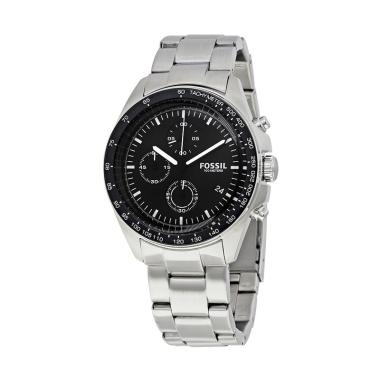 Fossil Sport 54 CH3026 Chronograph Jam Tangan Pria - Black Silver