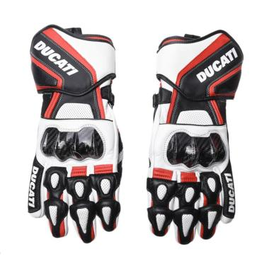Ducati Gloves Performance 14 Full Finger Sarung Tangan - White